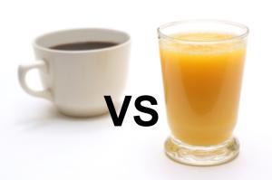 утренний кофе или же сок?